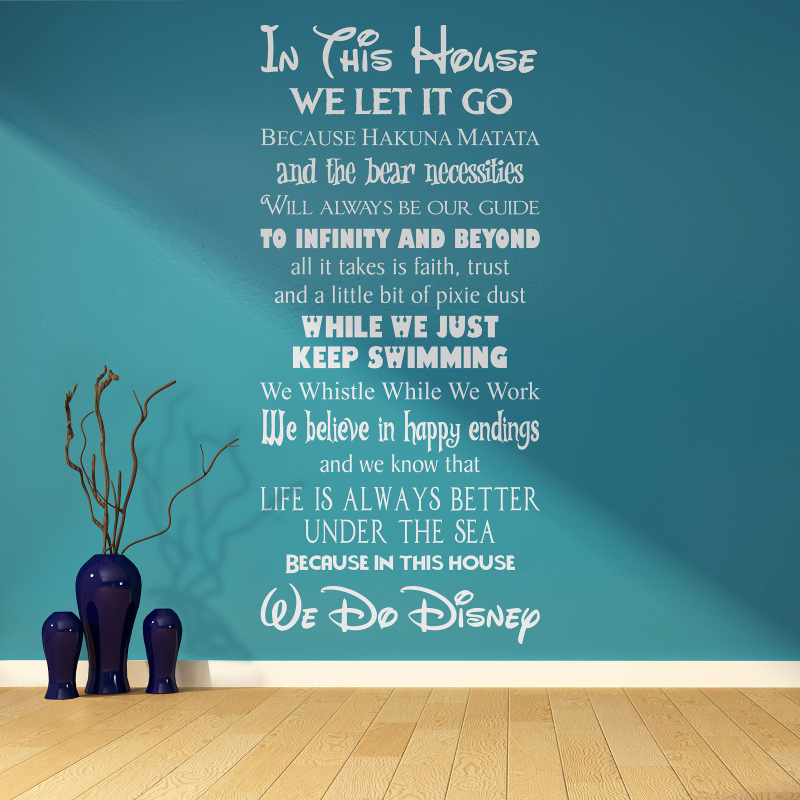 in this house we do disney style quote rules vinyl wall art in this house we do disney vinyl wall art