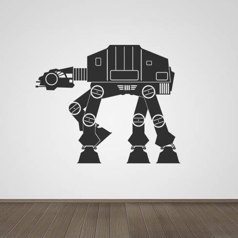 Star Wars AT-AT Walker Vinyle Mur Art Autocollant Mural Garçons Chambre MAN CAVE