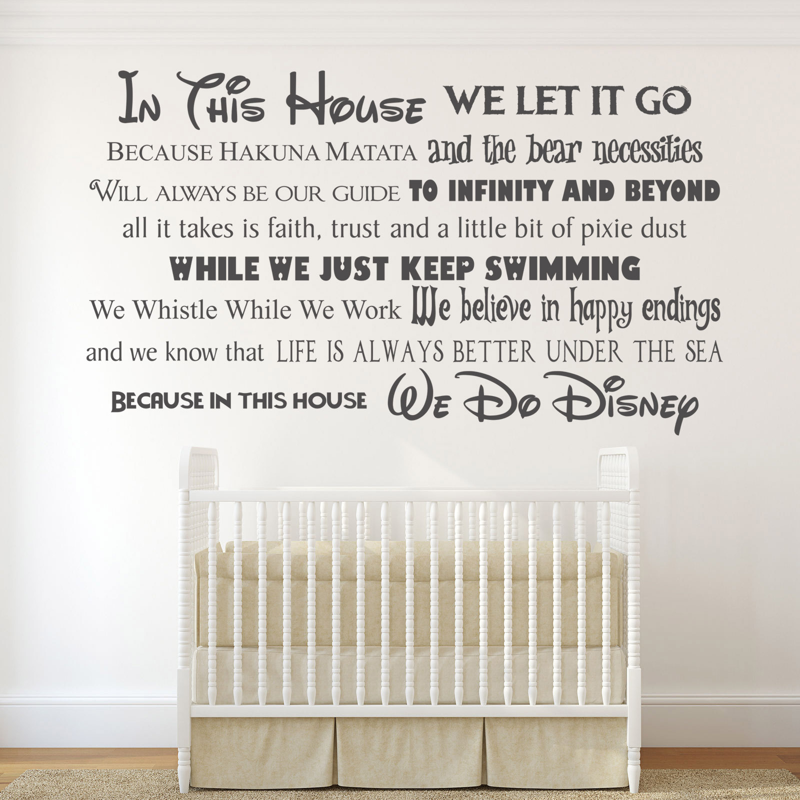 In this house we do disney style landscape quote rules vinyl wall in this house we do disney landscape vinyl wall art amipublicfo Choice Image