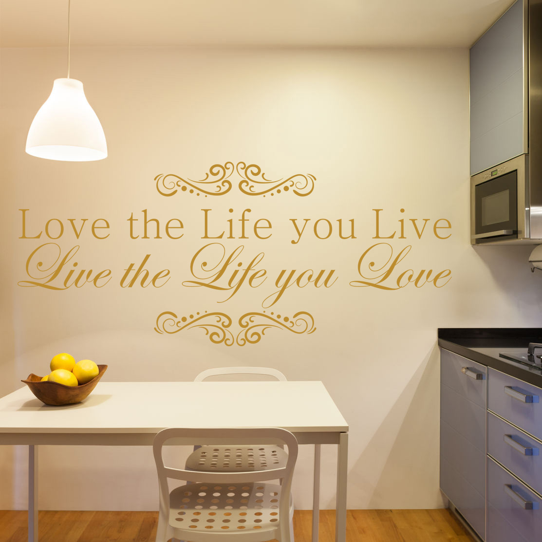 Bob Marley Live the Life You Love Inspiration Quote Vinyl Wall Art ...