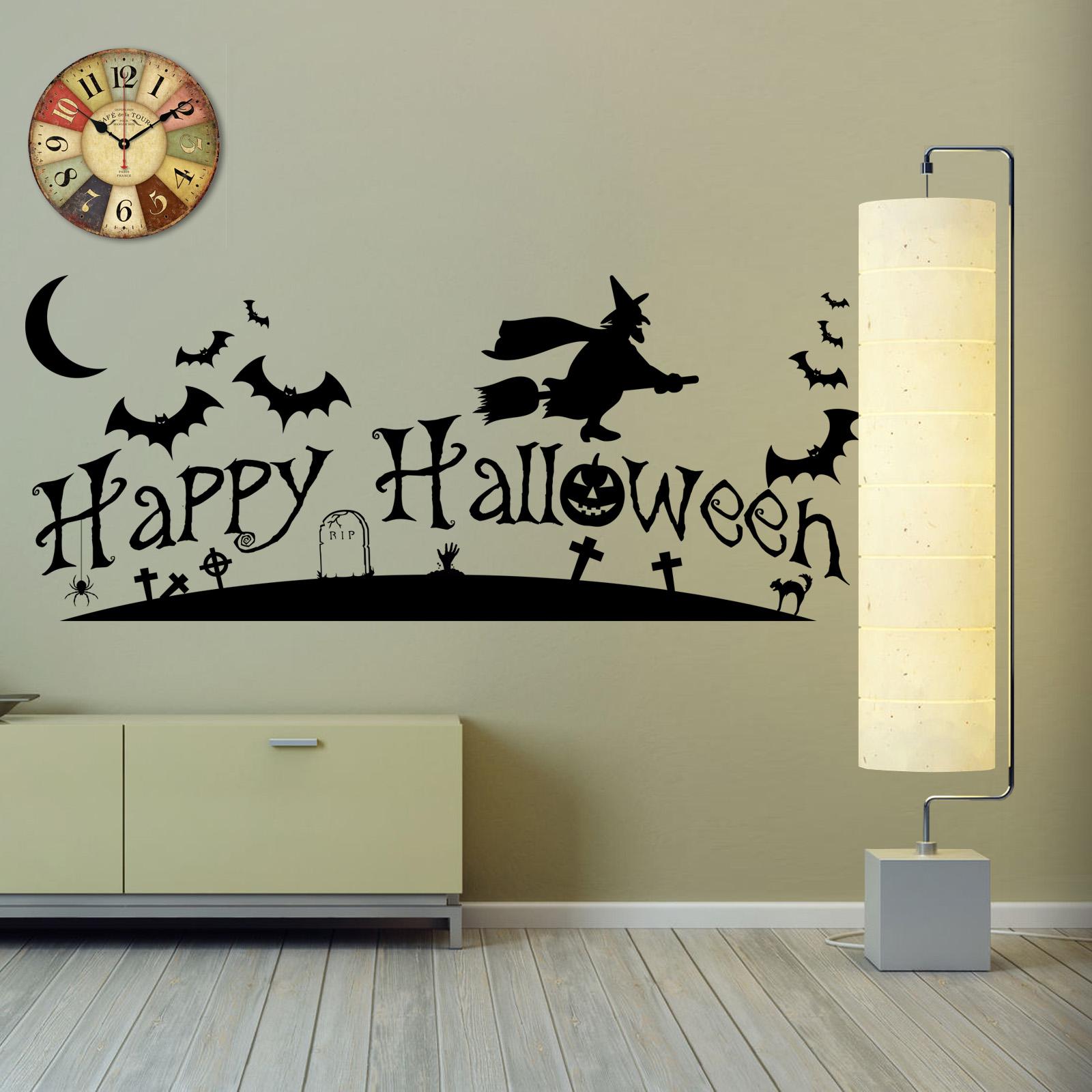 Happy Halloween Party Banner Vinyl Wall Art