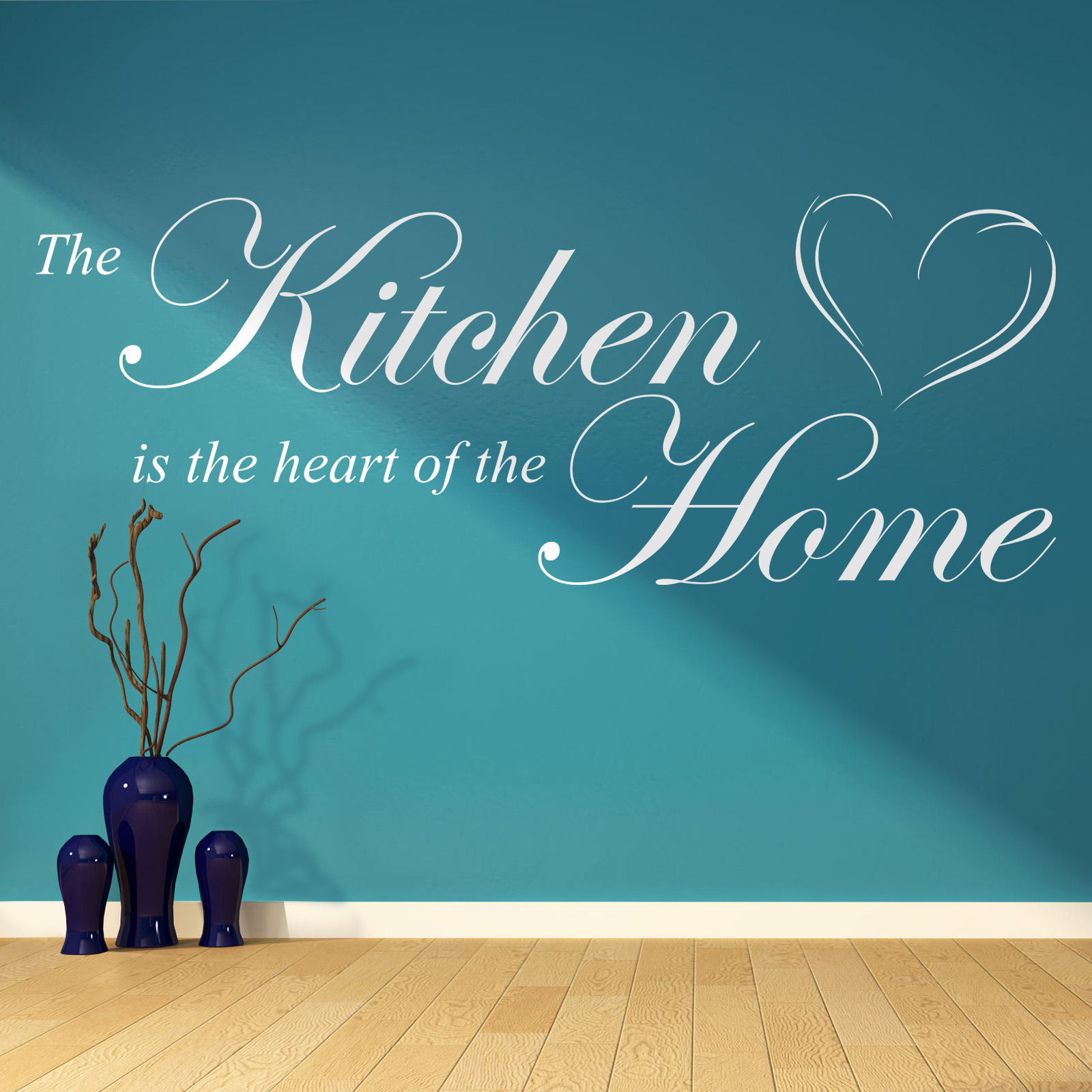 Heart of the Home - Kitchen Quote Mural Words. Home Vinyl Wall Art ...