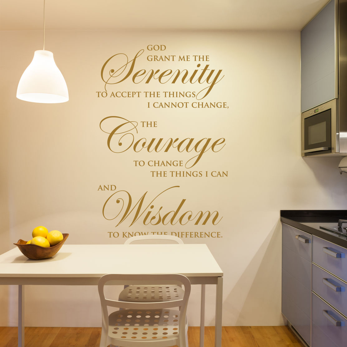 God Grant Me Serenity Prayer Vinyl Wall Art - Bible Decal Silhouette ...