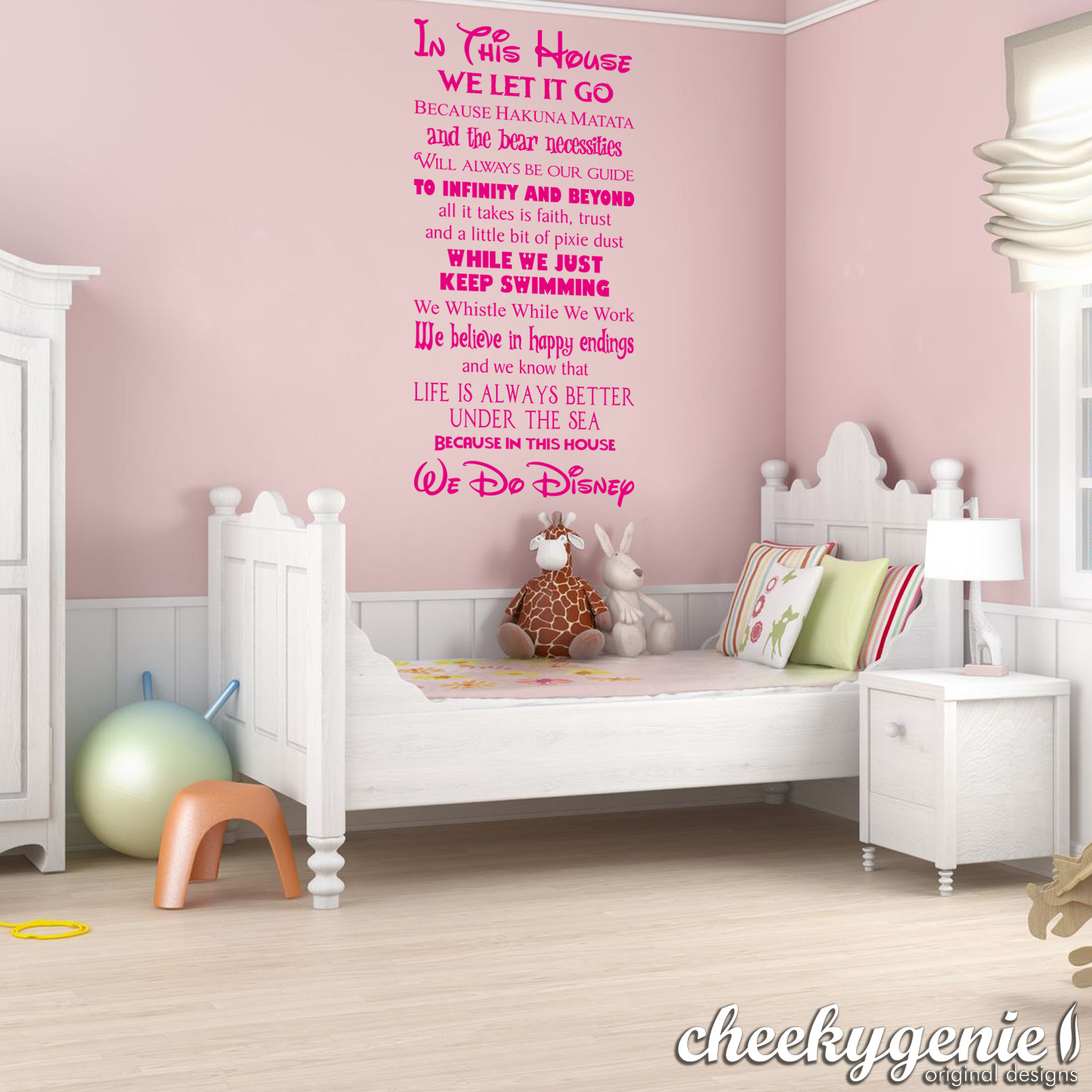 In this house we do disney style quote rules vinyl wall art in this house we do disney vinyl wall art amipublicfo Gallery